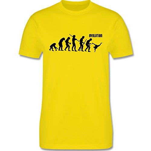 Evolution - Breakdance Evolution - Herren Premium T-Shirt Lemon Gelb