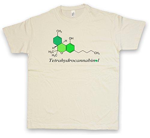 "Urban Backwoods THC Formula ""J"" T-Shirt – Chimica Lehrer Chemische Formel Teacher Weed Cannabis Kush Gras Shit Taglie S – 2XL Nature"