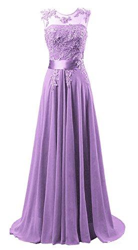 Edaier Damen Lange Chiffon Abendkleid Formales Kleid Größe 58 Lavendel