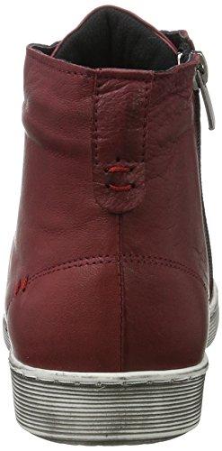 Andrea Conti Damen 0344595 Hohe Sneaker Rot (Bordo)