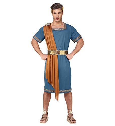 Widmann GRP07931VD 07933-Römischer Imperator (Tunika mit Schärpe, Gürtel, Lorbeerkrone) -Gr. L, Men, hellblau, L (Men's Julius Caesar Kostüm)