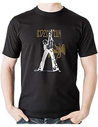 b24bb0be03e MankiTees Led Zeppelin - Jimmy Page - Rock t Shirt - Rock Music Band t  Shirts