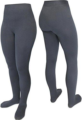 normani 3 warme Thermostrumpfhose mit weichem Innenfleece für Damen Farbe Anthrazit Größe S/M