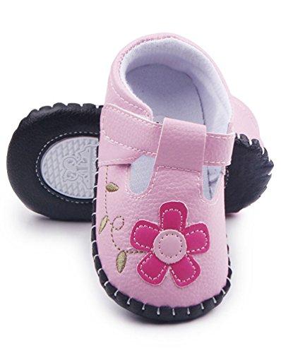 CHENGYANG Baby Mädchen Lauflernschuhe mit Biene und Blumen - Kleinkind Schuhe Pink