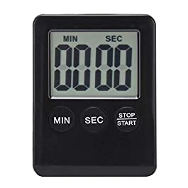 Fannty Timer da cucina, piccolo allarme elettronico digitale, interruttore ON/OFF, minuto secondo conto alla rovescia