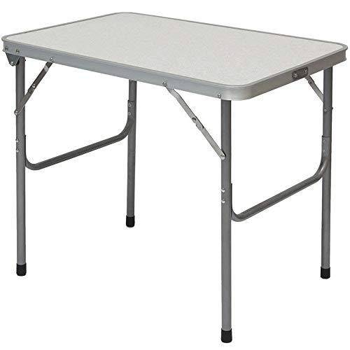 Amanka tavolino da campeggio regolabile in altezza | pieghevole formato valigia facile da trasportare | struttura in acciaio | ideale per picnic giardino spiaggia | ca 70x50x60cm