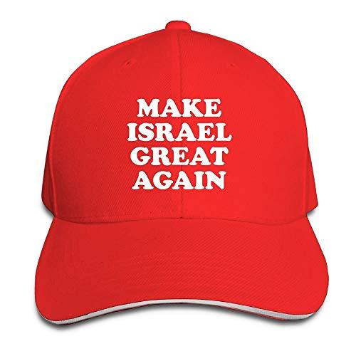 Rghkjlp Erwachsene Vintage Machen Israel groß Wieder-1 Hysteresenhut Papa Hut schwarz Sandwich Schirmmütze rot Multicolor95