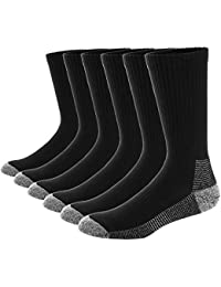 Ueither 6 Pares Calcetines de Algodón para Hombres Mujer Calcetines de Deporte Cushion Crew Socks