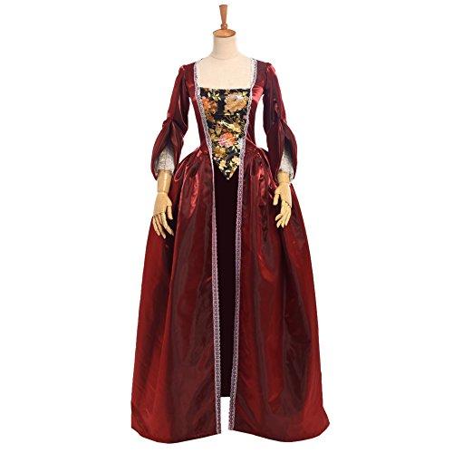 BLESSUME Damen A-Linie Kleid Gr. (S, - Marie Antoinette Kostüm