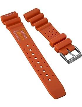 Dive Taucheruhrenarmband bei ZULUDIVER®, NDL Modell für Citizen, Orange, 22mm