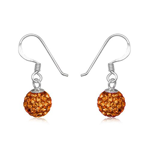 6mm-disco-ball-sterling-silver-dangly-drop-hook-earrings-orange-sun-or-choose-from-30-colours-6-os