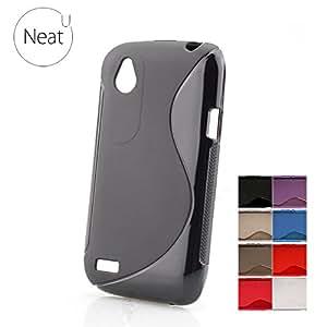 HTC Desire V Magic Brand S-Line Black Soft Silicon Back Cover Case