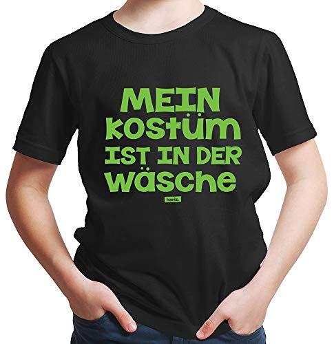 HARIZ  Jungen T-Shirt Mein Kostüm Ist In Der Wäsche Karneval Kostüm Plus Geschenkkarten Schwarz 140/9-11 ()