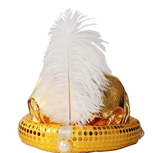 Aisoway 1pc Partei Cosplay Hut Aladdin Hut Stage Performance Zubehör Für Kinder Und Erwachsene Maskerade Cosplay Partei (Goldene) (Aladdin Hut Kostüm)