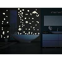 """Bilderdepot24 Adesivi fluorescenti """"Mondo subacqueo"""" - fluorescenti e brillanti al buio"""