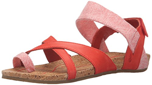 Ahnu Sananda Cuir Sandale Red Stone