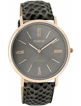 Oozoo Damen-Armbanduhr Analog Quarz Leder C7354