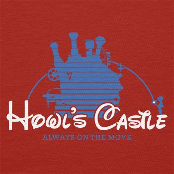 TEXLAB - Howl's Castle - Herren T-Shirt Rot