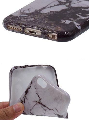 """iPhone 6/6S Plus 5.5"""" Téléphone Case,[BENKER] IMD Technologie TPU Matériau Coque De Protection Anti-rayures Motif De Marbre Choc Téléphone Ultra-mince Cas et Protecteur D'écran En Verre - Marbre 6 Marbre 5"""