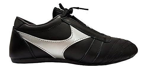 DOUBLE Y Chaussures arts martiaux en cuir noir T39