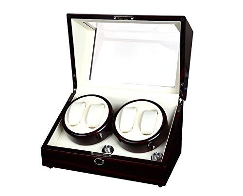 Holz automatische Drehen Uhrenbeweger, Leder Display Box Fall, Motor Tisch Box, 4 + 0 Positionen (Pie Box Holz)