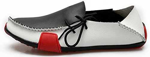 HYLM Chaussures pour hommes / chaussures en cuir / Chaussures à chaussures souples black and white