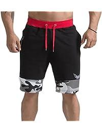 Highdas Pantalon jogging corto para Hombre - Pantalones Harem Bermudas Pantalones cortos con cordón Elástica Pantalón de…