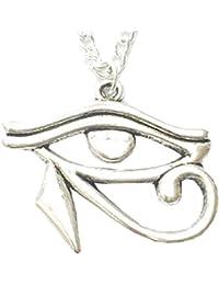 Collar con colgante a forma de símbolo Dell 'ojo de Ra Horus egipcio–Tercer Ojo