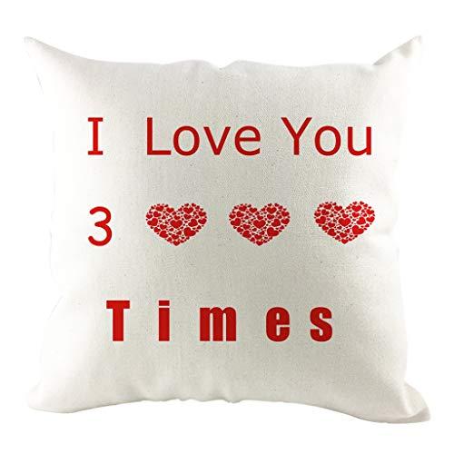 OPAKY Ich Liebe Dich DREI tausendmal Text Hug Pillowcase Home Decoration