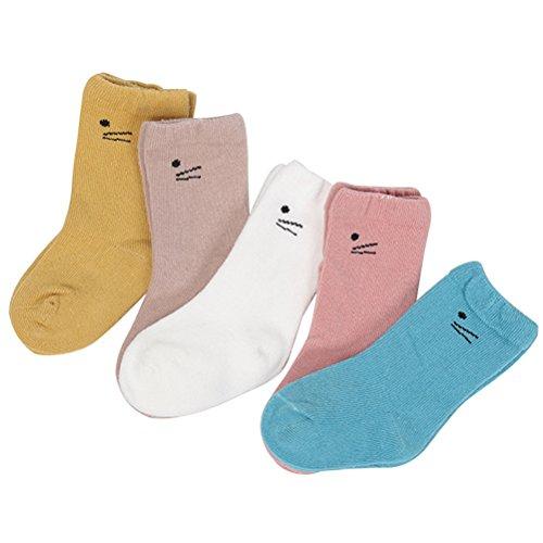 Zhhlaixing Unisex Nahtlos Schulsocken Weiches Elastisches Baumwollsocken Mit Komfort-Manschette fürs Kleinkind Mädchen Junge (Toddler Socken Manschette Boy)