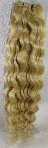 50,8 cm couleur : Blond Blanc (# 60) trames de cheveux vierges brésiliens Remy ondulés – Tissage 100% Cheveux Humains vierges brut