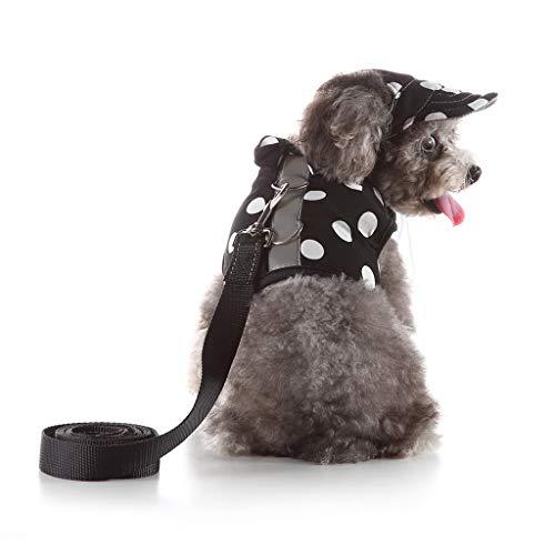 EUCoo_Haustierzubehör Hundebrustgurt Atmungsaktivem Hundeleinen-Set Katze SüßE Weste Hut Gesetzt Hundegeschirr