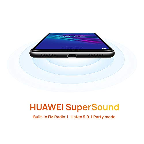 Huawei Y6 2019 32 GB 6.09 inch FullView Dewdrop Display Smartphone with 13 MP  Camera, Android 9.0 Sim-Free Mobile Phone, UK Version, Midnight Black Img 2 Zoom