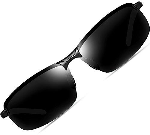 ATTCL-Herren-Hohe-Qualitt-Ultraleicht-Al-Mg-Rahmenantriebs-polarisierten-Sonnenbrillen-18143-Schwarz