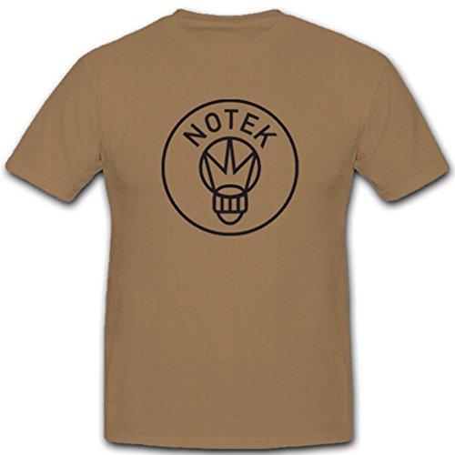 Forma Notek WH Logo Nachtmarsch Fahrzeuge Ausrüstung WK- T Shirt #4592, Farbe:Sand, Größe:Herren XXL