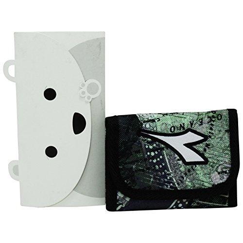 Diadora Vert Portefeuille Porte-Monnaie Cartes Pochette