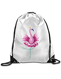 gthytjhv Dancer Flamingo Print Mochila con cordón Rucksack Shoulder Bags Sport Gym Bag Men Women Lightweight