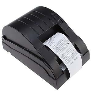 Loftek High Speed 90 mm/Sec USB POS Thermal Printer Compatible ESC/POS Command (Character can enlarge print) Black - UK Version