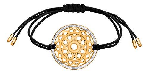 Nenalina Damen Armband mit Kronen – Sahasrara Chakra Anhänger in 925 Sterling Silber vergoldet mit Swarovski Steinen besetzt 863357-501