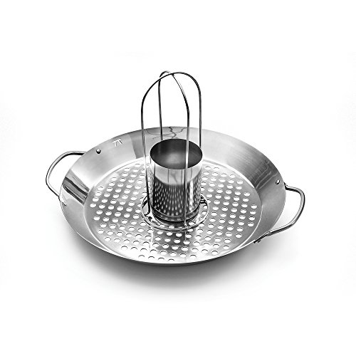 Outset QS56 2-in-1 Roasting Wok, Stainless Steel -