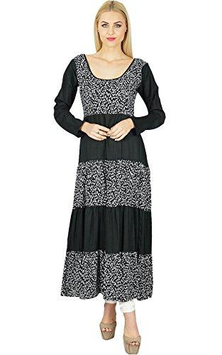 bimba-women-rayon-black-anarkali-kurta-kurti-full-sleeves-indian-ethnic-blouse