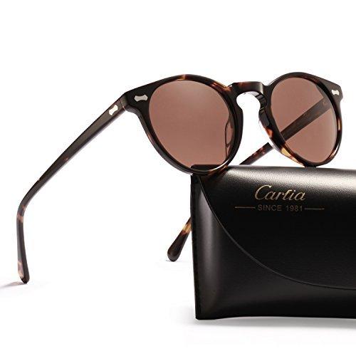 Carfia Carfia Retro Polarisierte Damen Sonnenbrille Herren Sonnenbrille Outdoor UV 400 Brille für Fahren Angeln Reisen