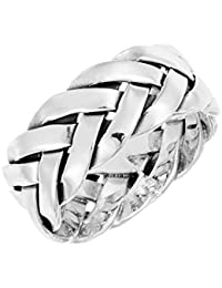 Jewelry & Watches Precious Metal Without Stones Search For Flights Sterling Silver 925 Braided Woven Size 9 Ring Discounts Price