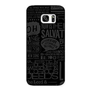 Enticing Grey Typograph Back Case Cover for Galaxy S7 Edge