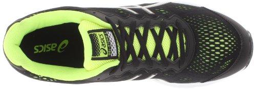 Asics, Scarpe da corsa uomo (Black/Silver/Fluorescent Yellow)