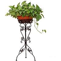 MAJOZ Soporte de Metal para Plantas y Flores, Decorativa para Jardín Dormitorio Sala de Estar Oficina Balcón Interior,30 x 30 x 75cm
