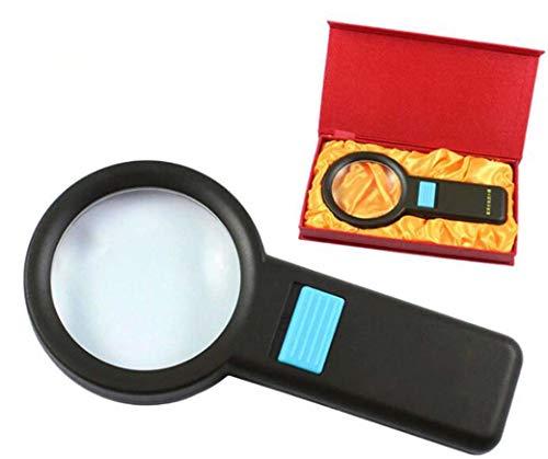 ZTYD Handvergrößerungsglas 6X, hochwertige Lupen führten helle optische Linse, um ältere Geschenke zu senden