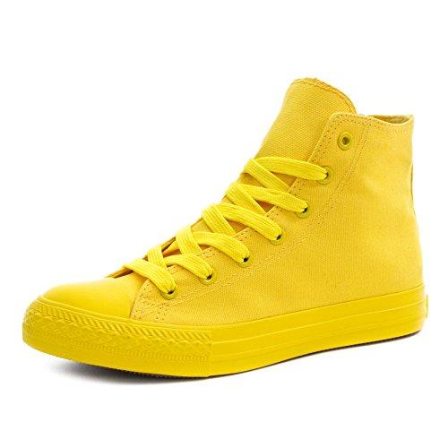 Klassische Unisex Damen Herren Schuhe Low High Top Sneaker Turnschuhe Gelb 38 Gelb Toms Schuhe