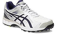 Asics Mens Gel 220 Not Out White, Indigo Blue and Silver Cricket Shoes - 8 UK