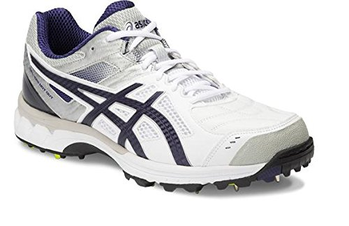 Asics-Mens-Gel-220-Not-Out-White-Indigo-Blue-and-Silver-Cricket-Shoes-10-UK